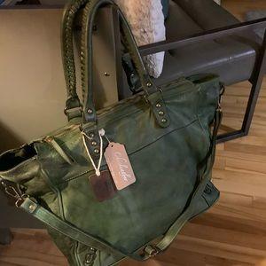 NWT Genuine leather weekender bag
